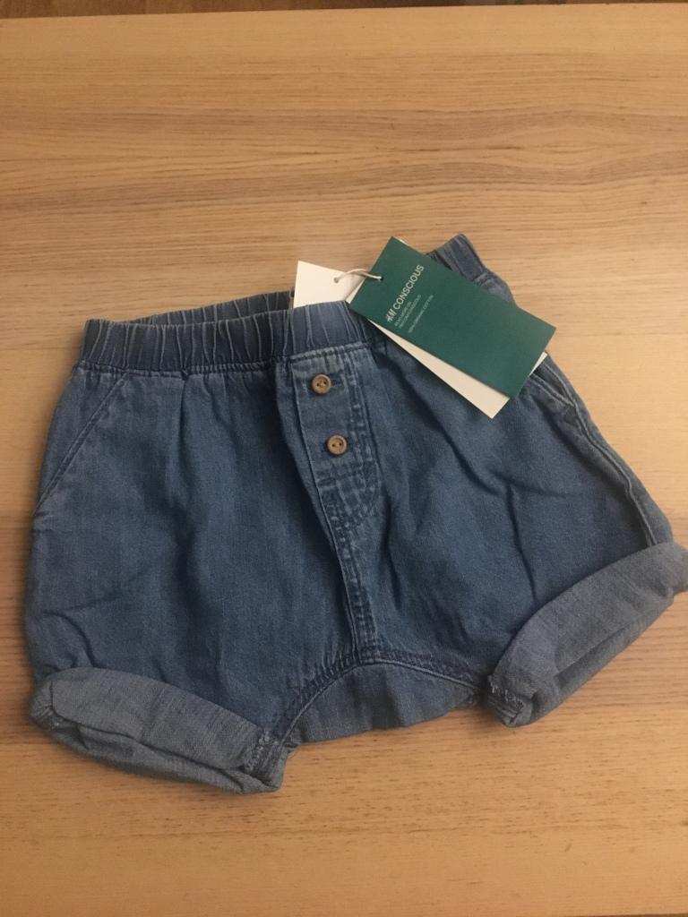 Denim shorts lillebror hm kläder bebis